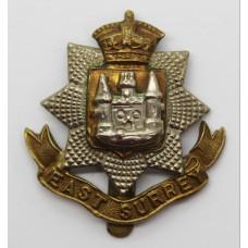Edwardian East Surrey Regiment Cap Badge
