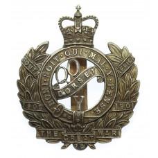 Queen's Own Dorset Yeomanry Cap Badge - Queen's Crown