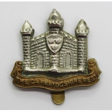 Cambridgshire Regiment Cap Badge (Missing 'E' Variety).