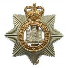 Devonshire Regiment Cap Badge - Queen's Crown