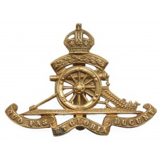 Royal Artillery Territorial Cap Badge - King's Crown
