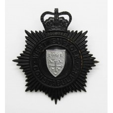 West Suffolk Constabulary Night Helmet Plate - Queen's Crown (sma