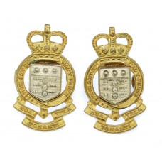 Pair of Royal Army Ordnance Corps (R.A.O.C.) Officer's Collar Badges - Queen's Crown