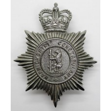 Warwickshire Constabulary Helmet Plate - Queen's Crown