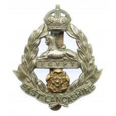 East Lancashire Regiment Cap Badge - King's Crown