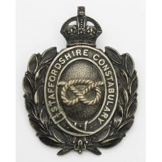 Staffordshire Constabulary Black Wreath Helmet Plate - King's Cro