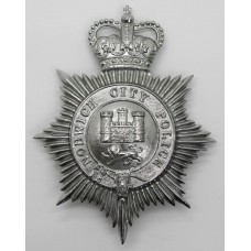 Norwich City Police Helmet Plate - Queen's Crown