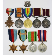 Hughes Family WW1 R.A.M.C. Mons Star & Bar, MID, LSGC & MSM & WW2 R.A.F. Air Crew Europe Father & Son Medal Group