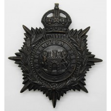 Northampton Borough Police Night Helmet Plate - King's Crown