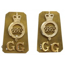 Pair of Grenadier Guards Anodised (Staybrite) Shoulder Titles