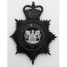 Northampton Borough Police Night Helmet Plate - Queen's Crown