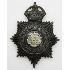 Northamptonshire Constabulary Night Helmet Plate - King's Crown