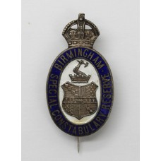 Birmingham Special Constabulary Reserve Enamelled Lapel Badge - K