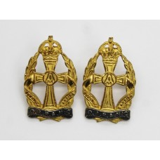 Pair of Queen Alexandra's Royal Army Nursing Corps (Q.A.R.A.N.C.) Officer's Collar Badges - King's Crown