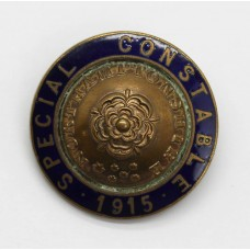 WW1 Northamptonshire Special Constable 1915 Enamelled Lapel Badge