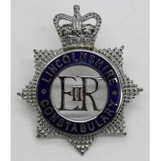 Lincolnshire Constabulary Senior Officer's Enamelled Cap Badge -