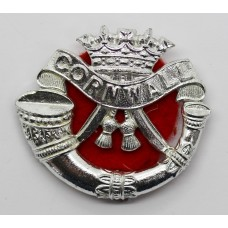 Duke of Cornwall's Light Infantry Anodised (Staybrite) Cap Badge