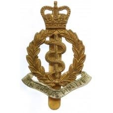 Royal Army Medical Corps (R.A.M.C.) Bi-Metal Cap Badge - Queen's