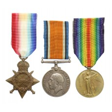 Rare Native Gurkha Officer's WW1 1914-15 Star Medal Trio - Jemadar (Later Subedar) Balandhar Rai, 2/7th Gurkha Rifles