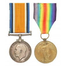 WW1 British War & Victory Medal Pair - Pte. T.G. Mattocks, Th