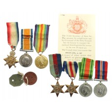 Ray Family WW1 / WW2 Father & Son Casualty Medal Group - 10th