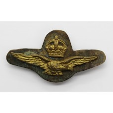 Royal Air Force (R.A.F.) Officer's Field Service Cap Badge - King's Crown