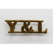 York and Lancaster Regiment (Y&L) Brass Shoulder Title