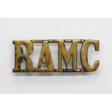 Royal Army Medical Corps (R.A.M.C) Brass Shoulder Title