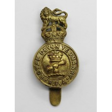 Royal Devon Yeomanry R.F.A. Cap Badge - King's Crown