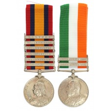 Queen's South Africa (6 Clasps) and King's South Africa (2 Clasps) Medal Pair - Pte. E. Attreed, 1st Bn. Essex Regiment