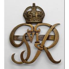 George VI Norfolk Yeomanry Officer's Service Dress Cap Badge