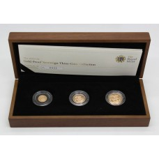 Royal Mint 2010 United Kingdom Gold Proof Sovereign Coin Set (Three Coin Collection)