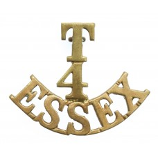 4th Territorial Bn. Essex Regiment (T/4/ESSEX) Shoulder Title