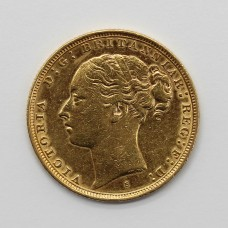 1881 S Victoria 22ct Gold Full Sovereign Coin (Sydney Mint)