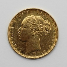1880 M Victoria 22ct Gold Full Sovereign Coin (Melbourne Mint)