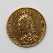 1891 M Victoria 22ct Gold Full Sovereign Coin (Melbourne Mint)