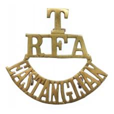 East Anglian Territorials, Royal Field Artillery (T/R.F.A./EAST ANGLIAN) Shoulder Title