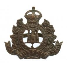 Suffolk Regiment Officer's Service Dress Cap Badge - King's Crown