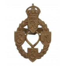 Royal Electrical & Mechanical Engineers (R.E.M.E.) Officer's Service Dress Cap Badge - King's Crown (1st Pattern)