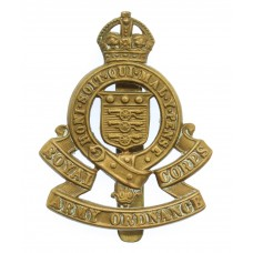 Royal Army Ordnance Corps (R.A.O.C.) Cap Badge - King's Crown