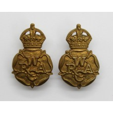 Pair of Women's Royal Army Corps (W.R..A.C.) Collar Badges - King's Crown