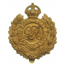 George V Royal Engineers Economy Cap Badge (Non Voided Centre)