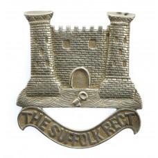 Victorian Suffolk Regiment Indian Officer's Mess Servants Silver Headdress Badge
