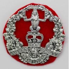 Queen Victoria School O.T.C. Dunblane Anodised (Staybrite) Cap Badge