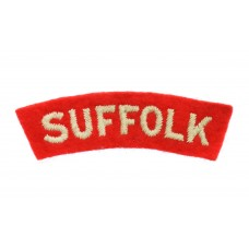 Suffolk Regiment  (SUFFOLK) Cloth Shoulder Title
