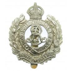 Edward VII Royal Engineers Volunteers Cap Badge