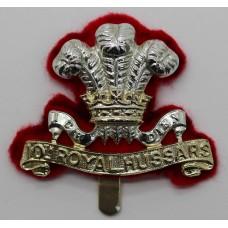 10th Royal Hussars Anodised (Staybrite) Cap Badge
