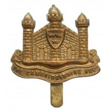Cambridgeshire Regiment WW1 All Brass Economy Cap Badge