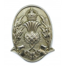 Scottish Police Forces Cap Badge - King's Crown