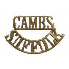Cambridgeshire & Suffolk Reserve Battalion (CAMBS/SUFFOLK) WW1 Shoulder Title